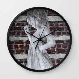 A Certain Shade of Red Brick Wall Clock
