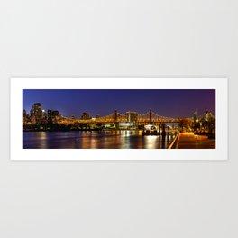 Queensboro Bridge, New York City Art Print