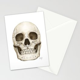 Digital Skull Painting Stationery Cards
