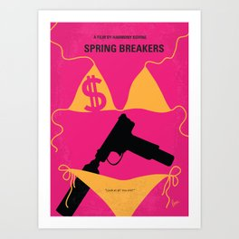 No218 My SPRING BREAKERS minimal movie poster Art Print