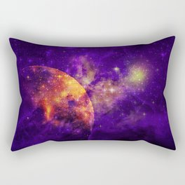Planet, Nebula and Stars Rectangular Pillow