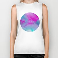 aurora Biker Tanks featuring Aurora by elena + stephann