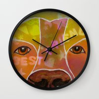 best friend Wall Clocks featuring Best Friend by Roger Wedegis