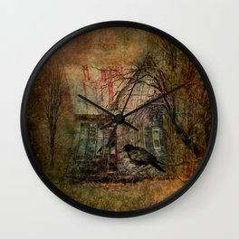 Courting Crow Wall Clock