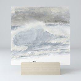 Stormy Silver Sea Mini Art Print