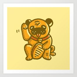 Golden pug Art Print