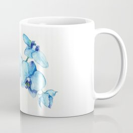 Blue Orchids - Watercolor Botanical Art Coffee Mug