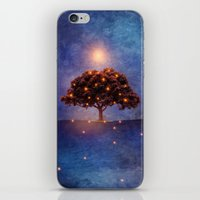 lights iPhone & iPod Skins featuring Energy & lights by Viviana Gonzalez