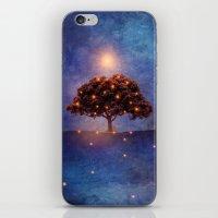 lights iPhone & iPod Skins featuring Energy & lights by Viviana Gonzalez