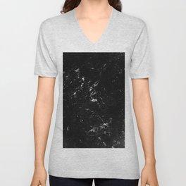 Black Marble #4 #decor #art #society6 Unisex V-Neck