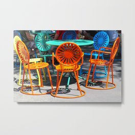 Colorful Chairs of Union Terrace - University of Wisconsin, Madison Metal Print