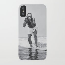 The Surfing Photographer iPhone Case