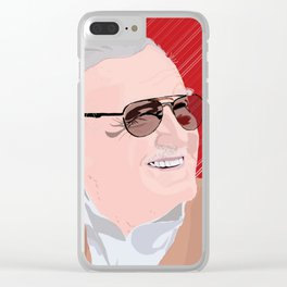 Stan Lee Clear iPhone Case