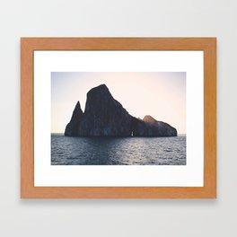 Kicker Rock, Galapagos Framed Art Print