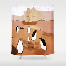 Guests arrive 8 Shower Curtain