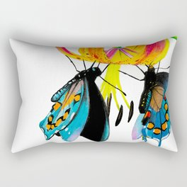 Butterflies & Lily Rectangular Pillow