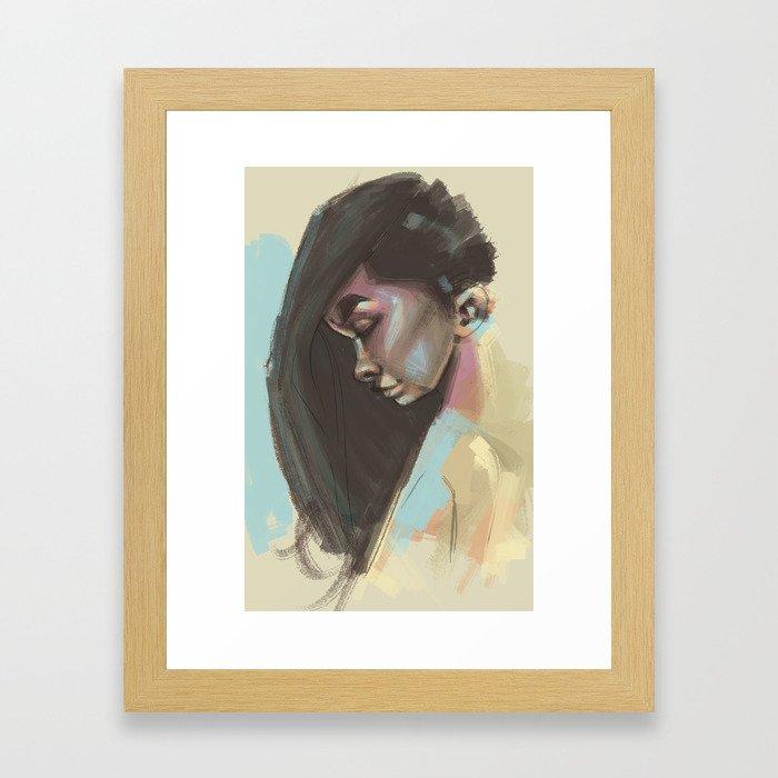 painty girl Framed Art Print