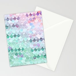 SUMMER MERMAID - CORAL MINT Stationery Cards