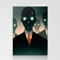 Stationery Cards featuring Microchip mind control by Lunacy