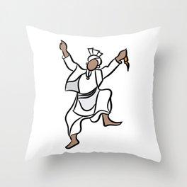 Punjabi Dancer Throw Pillow