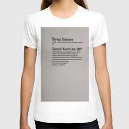 Dariusz Stolarzyn Summer Kinetic Art 2017 Description T-shirt