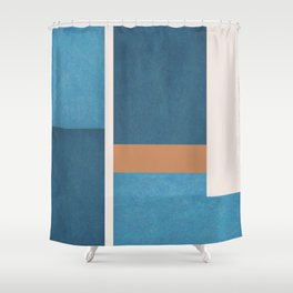 Intercepts, Geometric Forms Shapes Shower Curtain