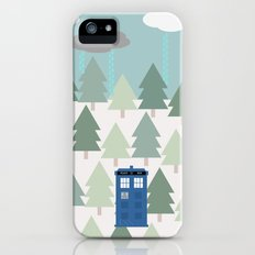 TARDIS lands in the Pacific Northwest Pine Tree Forest - Oregon, Washington, Portland, PDX, Seattle iPhone (5, 5s) Slim Case
