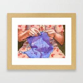 the knitter Framed Art Print