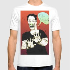 Not a Zombie White MEDIUM Mens Fitted Tee