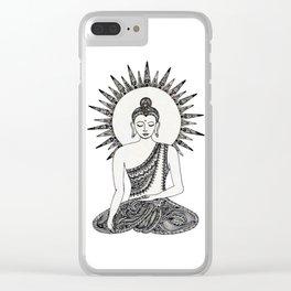 Meditating Buddha Clear iPhone Case