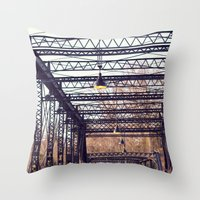 bridge Throw Pillows featuring Bridge by myhideaway