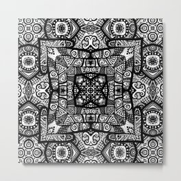 Zentangle Squared Metal Print