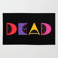 dead Area & Throw Rugs featuring DEAD by Oh Good Goods