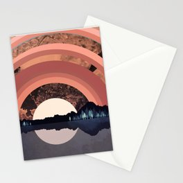 Forest Night Reflection Stationery Cards