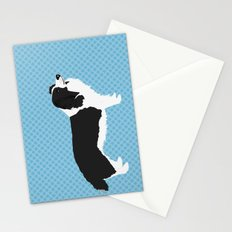 Border Collie Dog Illustration Stationery Cards