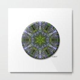 6 Pointed Mandala - Hyacinth Metal Print