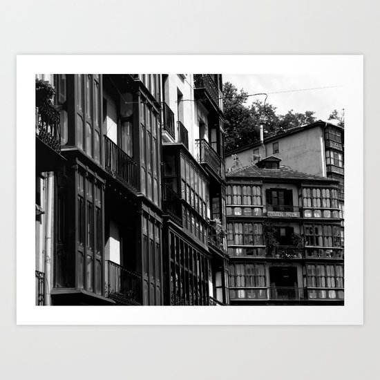 Casco Viejo de Bilbao  Art Print