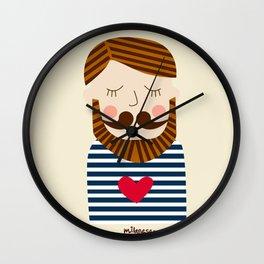 Bearded Sailor Lover Wall Clock