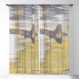 Golden Reflection - Fallen Leaf Sheer Curtain