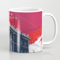 detroit Mugs featuring Save Detroit by The Mighty Mitten - Great Lakes Art