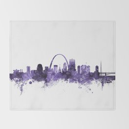 St Louis Missouri Skyline Throw Blanket