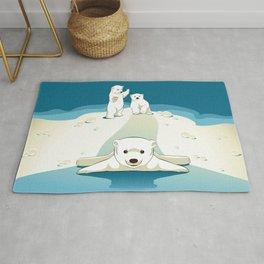 Polar bear cubs Rug
