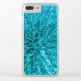 Baikal ice texture Clear iPhone Case