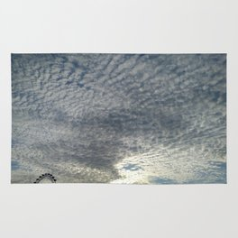 London Eye, Cloudy Sky Rug