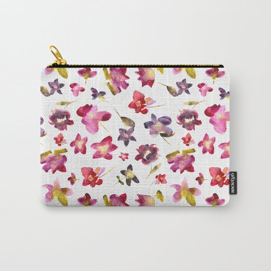 Floral vibes in watercolor Carry-All Pouch