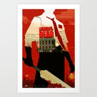 shaun of the dead Art Prints featuring Shaun Of The Dead by Duke Dastardly