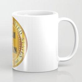 William H. Harrison Gold Metal Stamp Coffee Mug