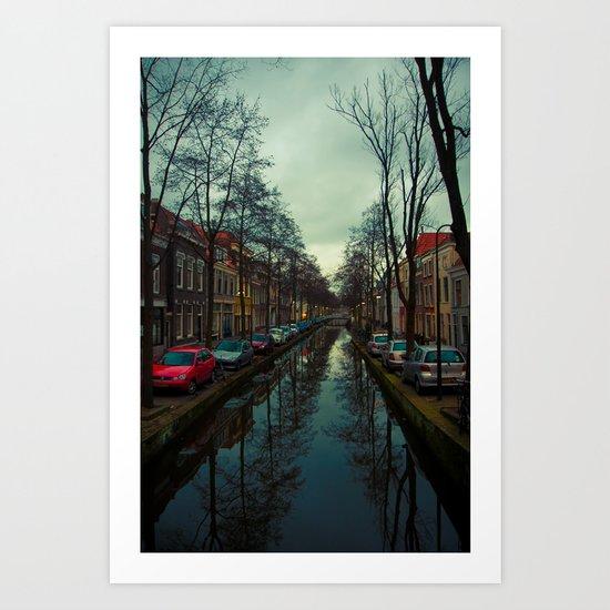 Delft blue Art Print