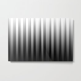 Black And White Soft Blurred Vertical Lines - Ombre Abstract Blurred Design Metal Print