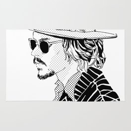Johnny Depp with sun-glasses Rug
